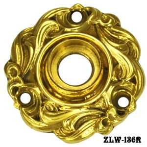 Victorian Scroll Design Lost Wax Cast Doorknob Rose (ZLW-136R)