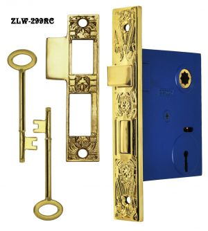 "Victorian Design 2 5/8"" Backset Lock 2 1/4""cc (ZLW-299RC)"