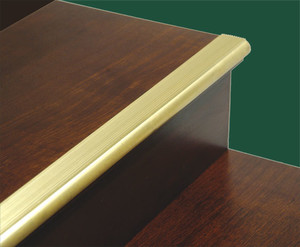 Solid Brass Stair or Ladder Stair Nosing and Tread Step Cover (ZM-150)