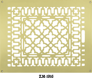 Brass Grille Vent Register for Floor Wall or Ceiling: IS 14