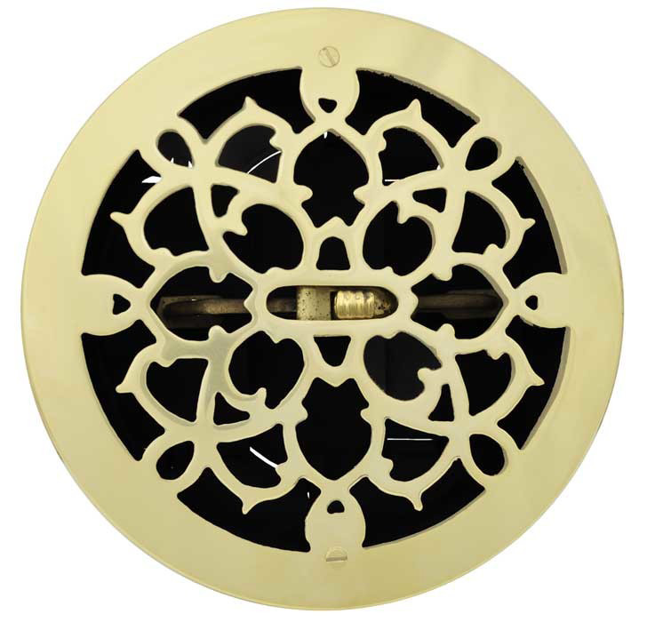 Vintage Hardware Amp Lighting Brass Round Grates Vent