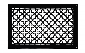 "Cast Iron Floor Ceiling Or Wall Grille Registers Without Dampers Hole Size: 12"" x 20""; Oa 14"" x 22"" (ZM-IR-1220)"