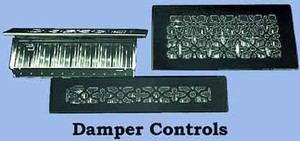 Antique Recreated Cast Iron Floor Ceiling, Or Wall Grate For Air Or Heat.  Register Cover With Dampers (ZM-IR-211)