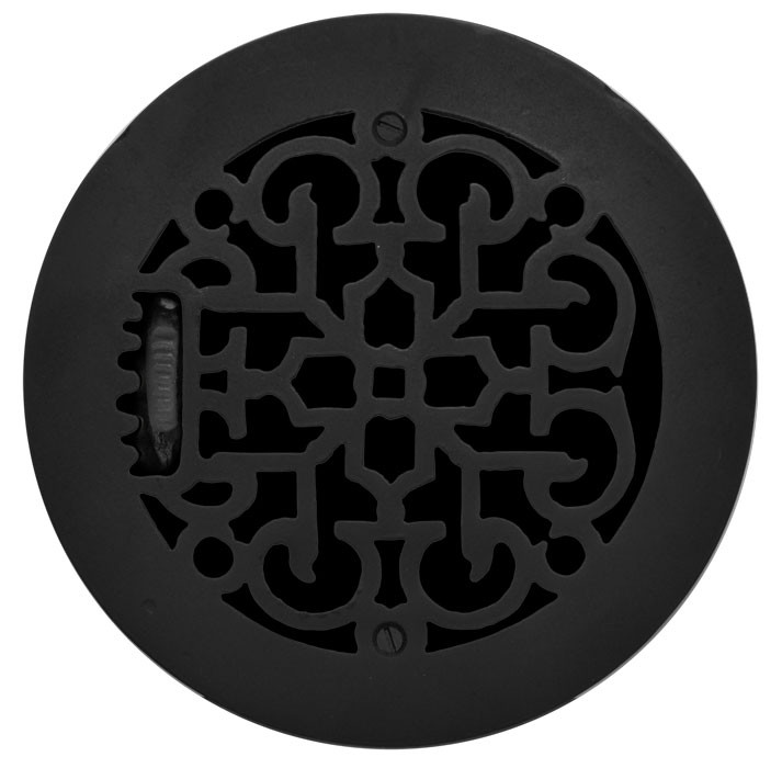Cast Iron Round Floor Ceiling Or Wall Grates For Air Heat Vent
