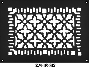 "Cast Iron Floor Ceiling Or Wall Grille Registers Without Dampers Hole Size: 8""X12""; Oa 10"" X 14"" (ZM-IR-812)"