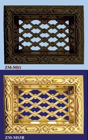 Victorian Recreated Foundation Grate In Brass Or Iron (ZM-MS1)