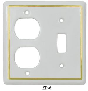 White Porcelain Victorian Style Switch & Outlet Plug Cover Plate Cover(ZP-6)