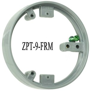 Floor Outlet Round PVC Frame Support (ZPT-9-FRM)