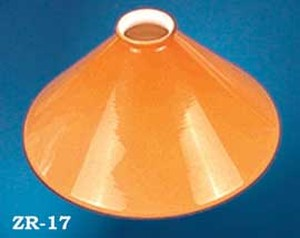 "Glass Shade Recreated 10"" Yellow Trumpet Cased Glass Shade, 2 1/4"" Fitter (ZR-17)"