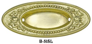 Victorian Stamped Oval Window Sash Pull (B-51SL)
