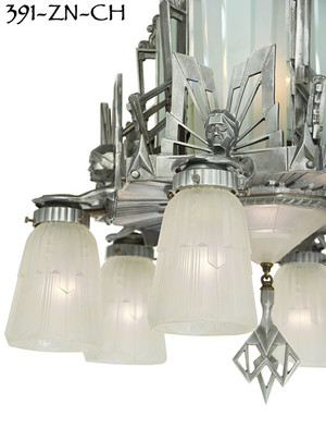 Art-Deco-Oscar-Series-Figural-Chandelier-(391-ZN-CH)