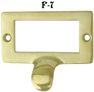 File Cabinet Large Card Brass Frame Finger Pull (F-7)