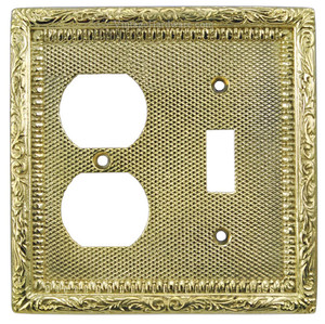 Victorian Decorative Switch & Electrical Outlet Plug Combo Switchplate Cover (L-W11)