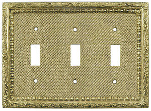 Victorian Decorative Triple Light Switch Plate Cover (L-W21)