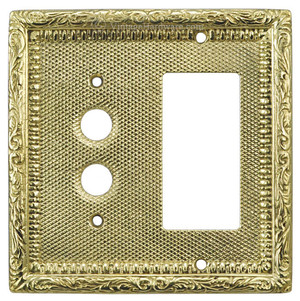 Victorian Decorative GFI & Pushbutton Switch Plate Cover (L-W23)