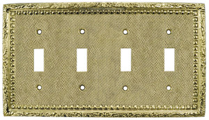 Victorian Decorative Quad Light Switch Plate (L-W54)