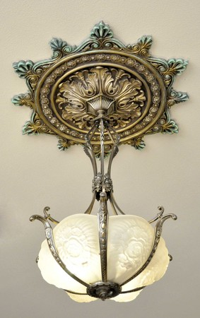 Large-38-inch-Decorative-Real-Plaster-Ceiling-Medallion-(ZK-19A)
