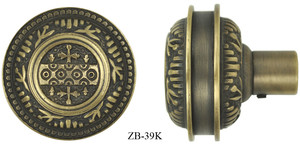 Victorian Windsor Fully Decorated Door Knob (ZB-39K)