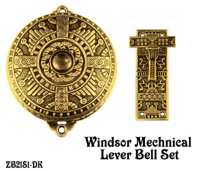 Mechanical Doorbell Recreated Eastlake Windsor Mechanical Doorbell Set (ZB21S1)