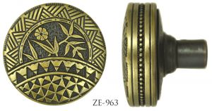 "Victorian Door knob Recreated Aesthetic Entrance Door Knob 2 3/8"" Diameter Circa 1879 (ZE-963)"